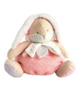 DOUDOU Lapin de sucre rose range pyjama