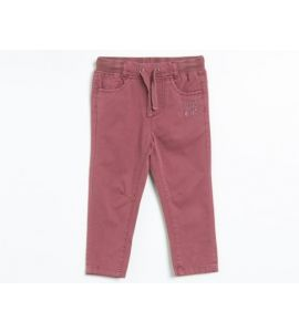 Pantalon en coton LITTLE DUDE Rose