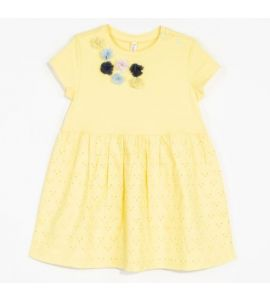 Robe manches courtes SO LOVELY Jaune