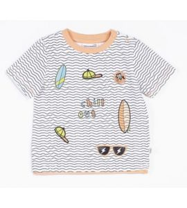 T-shirt manches courtes Let's Play Chill Out Blanc