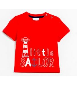 T-shirt manches courtes Little Sailor Rouge
