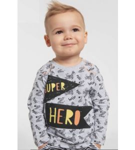 T-shirt manches longues Funtastic Super Hero Gris
